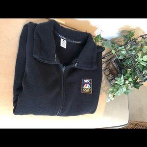 Men's XL NBC Olympic Crew Fleece Vest Black
